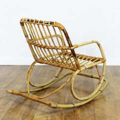 Vintage Wicker Rocking Chair Revolving Synonym Rattan Children 39s For Sale At Pamono