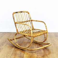 Childs Rattan Chair Best For Guitar Playing Vintage Children 39s Rocking Sale At Pamono