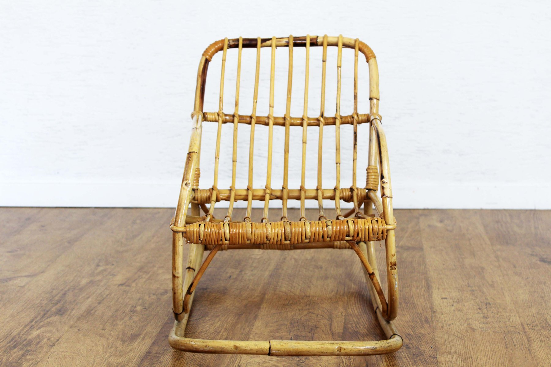 rocking chair for two cracker barrel chairs vintage rattan children 39s sale at pamono