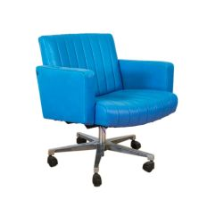 Swivel Office Chair Plans Executive Chairman Vintage Turquoise Leather Desk For Sale At Pamono
