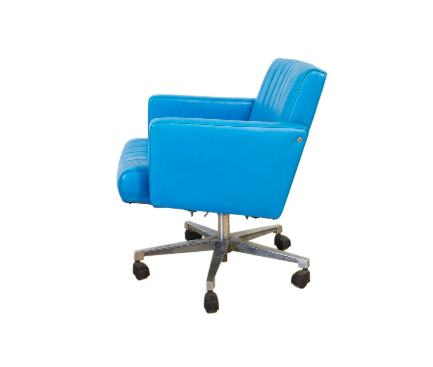 turquoise chairs leather traducao vintage swivel desk chair for sale at pamono