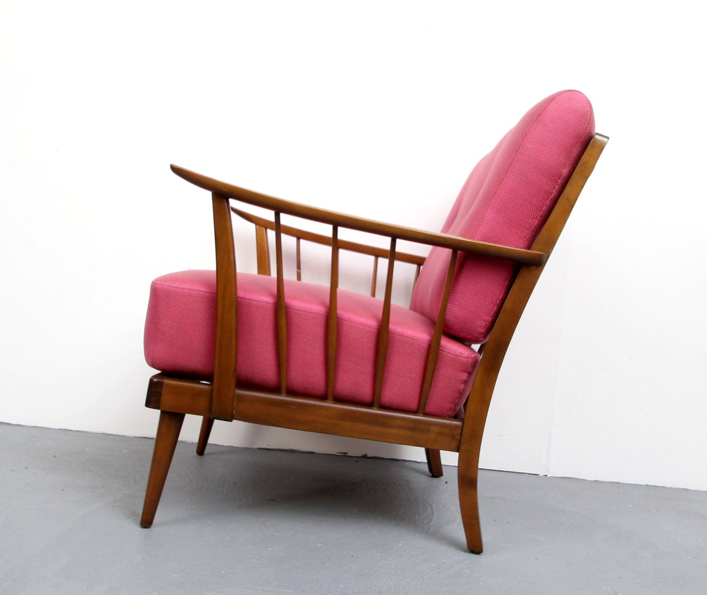 pink arm chair in a bag armchair 1950s for sale at pamono