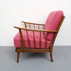 Pink Arm Chair Cloth High Pattern Armchair 1950s For Sale At Pamono