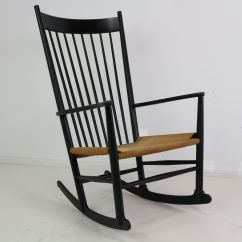 Rocking Chair For Two Cheap Unusual Chairs Black J16 By Hans Wegner 1969 Sale At