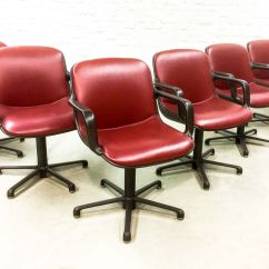 Red Chairs For Sale Dorm Ikea Burgundy Leather Executive From Comforto 1980s