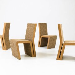 Frank Gehry Cardboard Chairs Hair Dryer Chair Dimensions Easy Edges By For Vitra 2000 Set Of 4