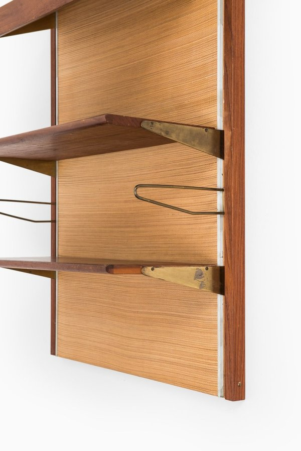 Mid Century Wall Mounted Bookcase