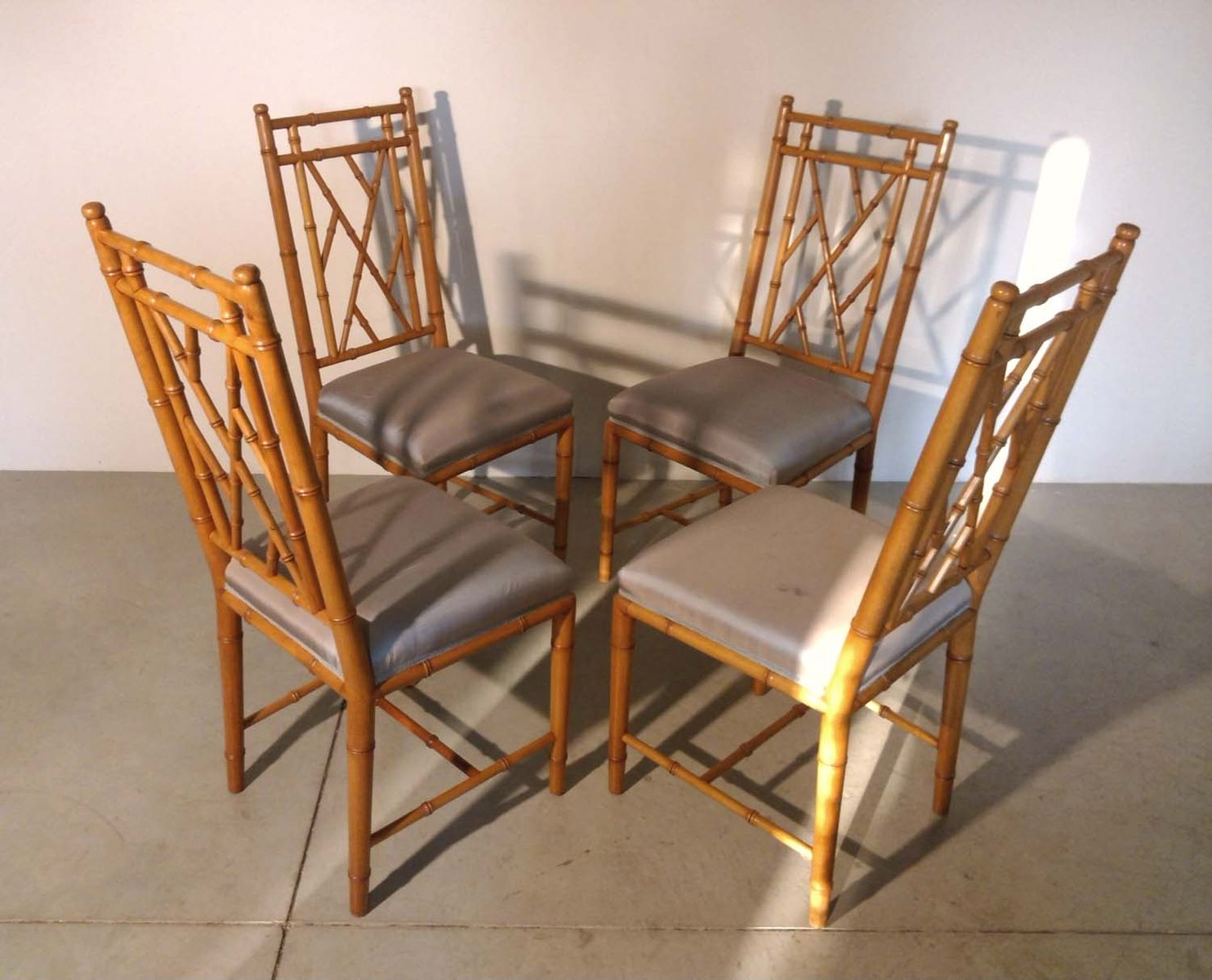 bamboo chairs for sale teal adirondack faux 1970s set of 4 at pamono