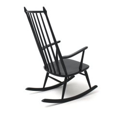 Black Rocking Chairs Camo Lawn Chair Scandinavian 1960s For Sale At Pamono