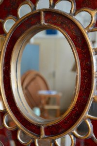Vintage Bohemian Mirror for sale at Pamono