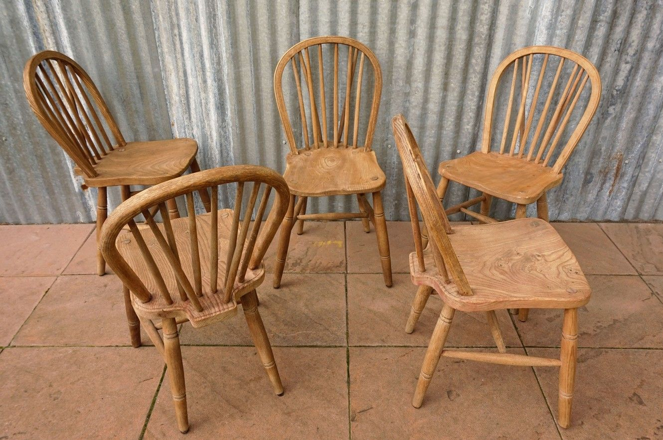 windsor back chairs for sale cane dining chair vintage bow set of 5 at pamono