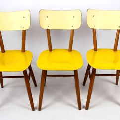 Yellow Chairs For Sale Portable High Chair Target Vintage And Cream From Thonet 1960s Set Of 3