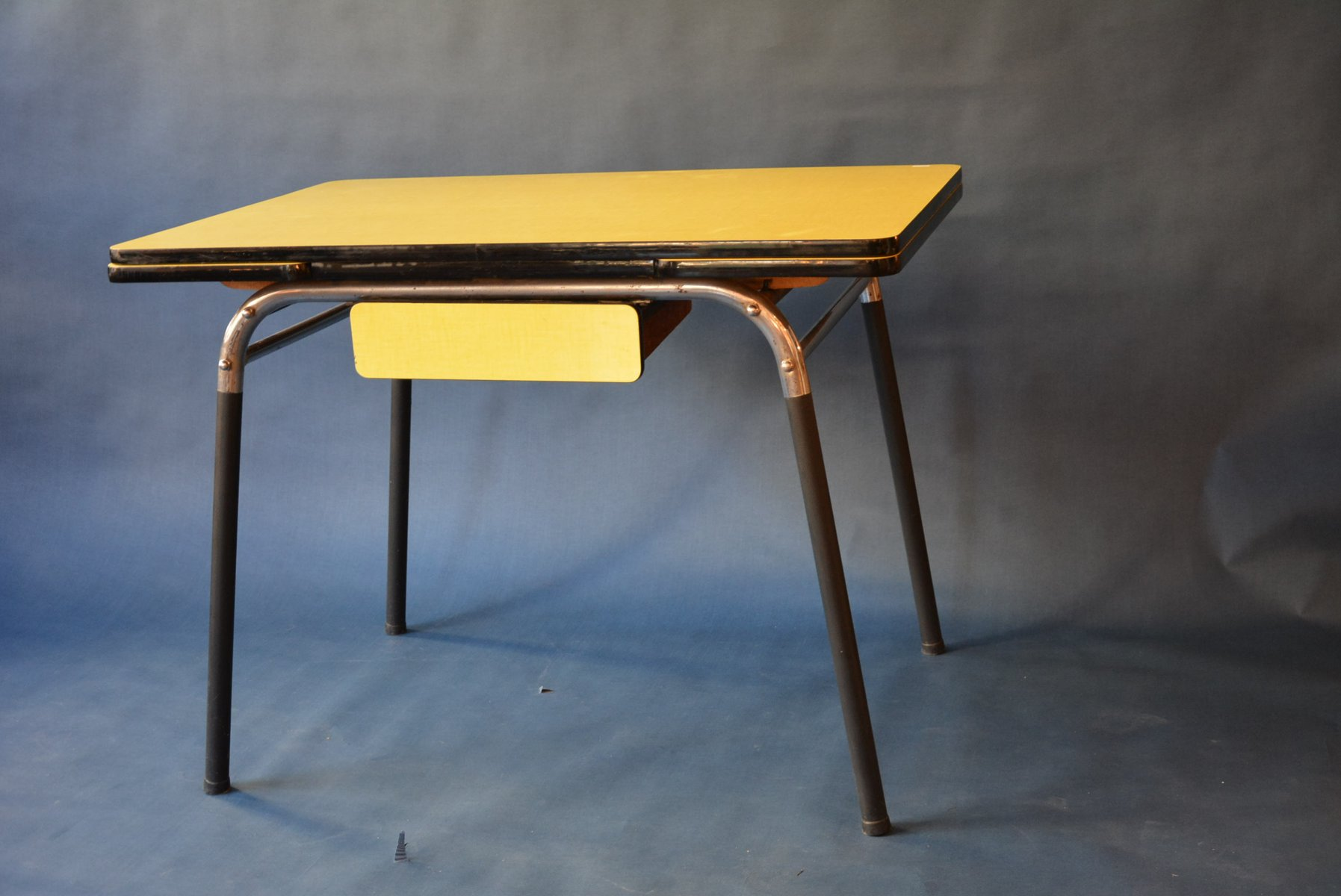 1950 s yellow formica table and chairs stool chair 3d model dining 1950s for sale at pamono