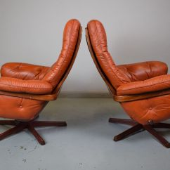 Swedish Leather Recliner Chairs On Chair Exercises Tan Red Reclining Swivel From Göte