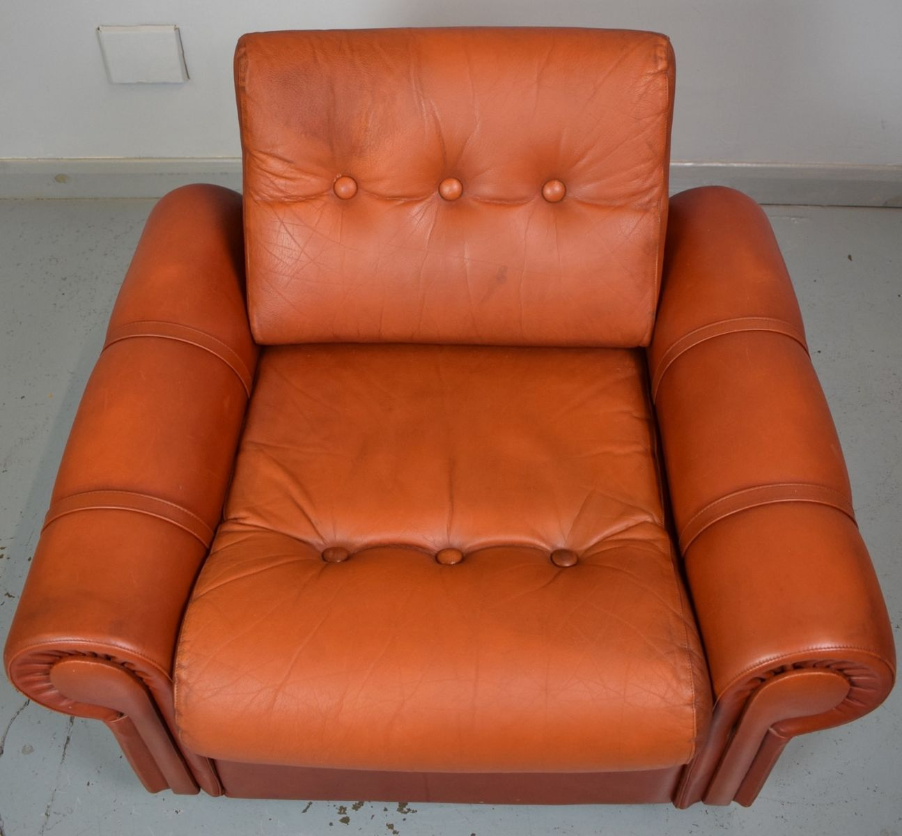 red lounge chair desk keyboard tray vintage leather for sale at pamono