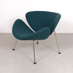 Orange Slice Chair Heated Vibrating Cushions Vintage Teal By Pierre Paulin For