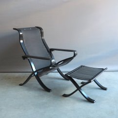 Folding Z Chair Break Room Chairs Vintage Relax Easy With Ottoman By Ingmar