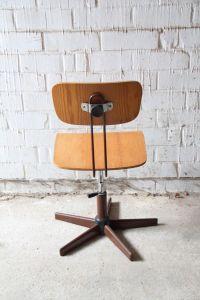 Vintage Industrial Swivel Desk Chair en vente sur Pamono