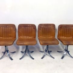 Chrome Dining Chairs Australia Canvas Folding Asda French Leather And From Flox 1970s