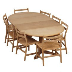 Dining Set With 8 Chairs Folding Chair Types Blank Oak Ch47 And Table By