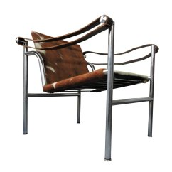 Chair Design By Le Corbusier Oversized Wingback Slipcovers Mid Century Italian Cowhide For