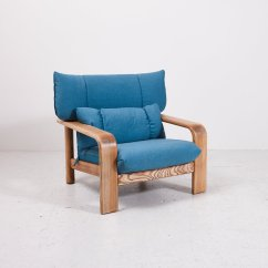 Club Chairs And Table Wood Metal Vintage Lounge With Coffee From Rolf Benz For
