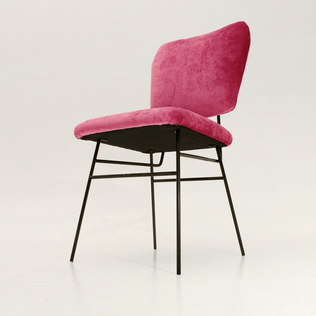 velvet armchair pink chair covers store near me italian 1950s for sale at pamono