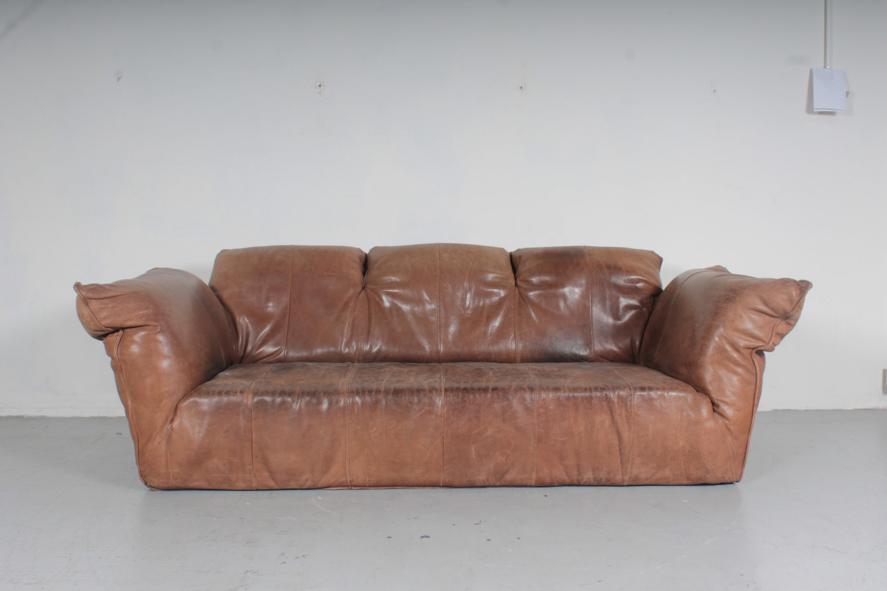 sofa for van singapore collection charity leeds vintage brown leather by gerard den berg