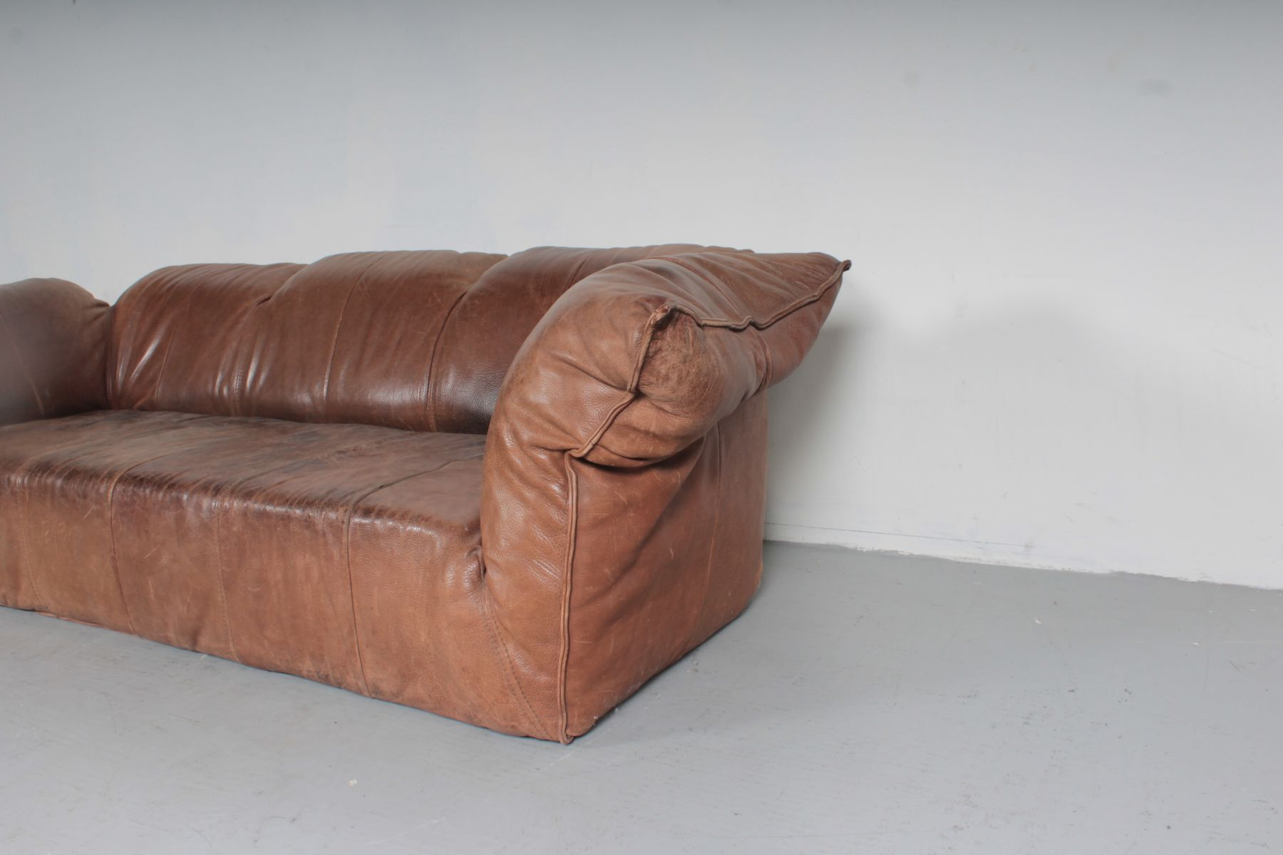sofa for van singapore murphy bed with diy vintage brown leather by gerard den berg