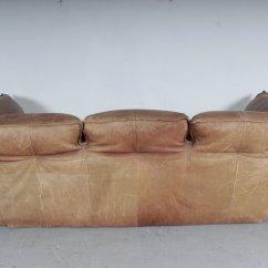 Sofa For Van Singapore Parlor Crossword Vintage Brown Leather By Gerard Den Berg