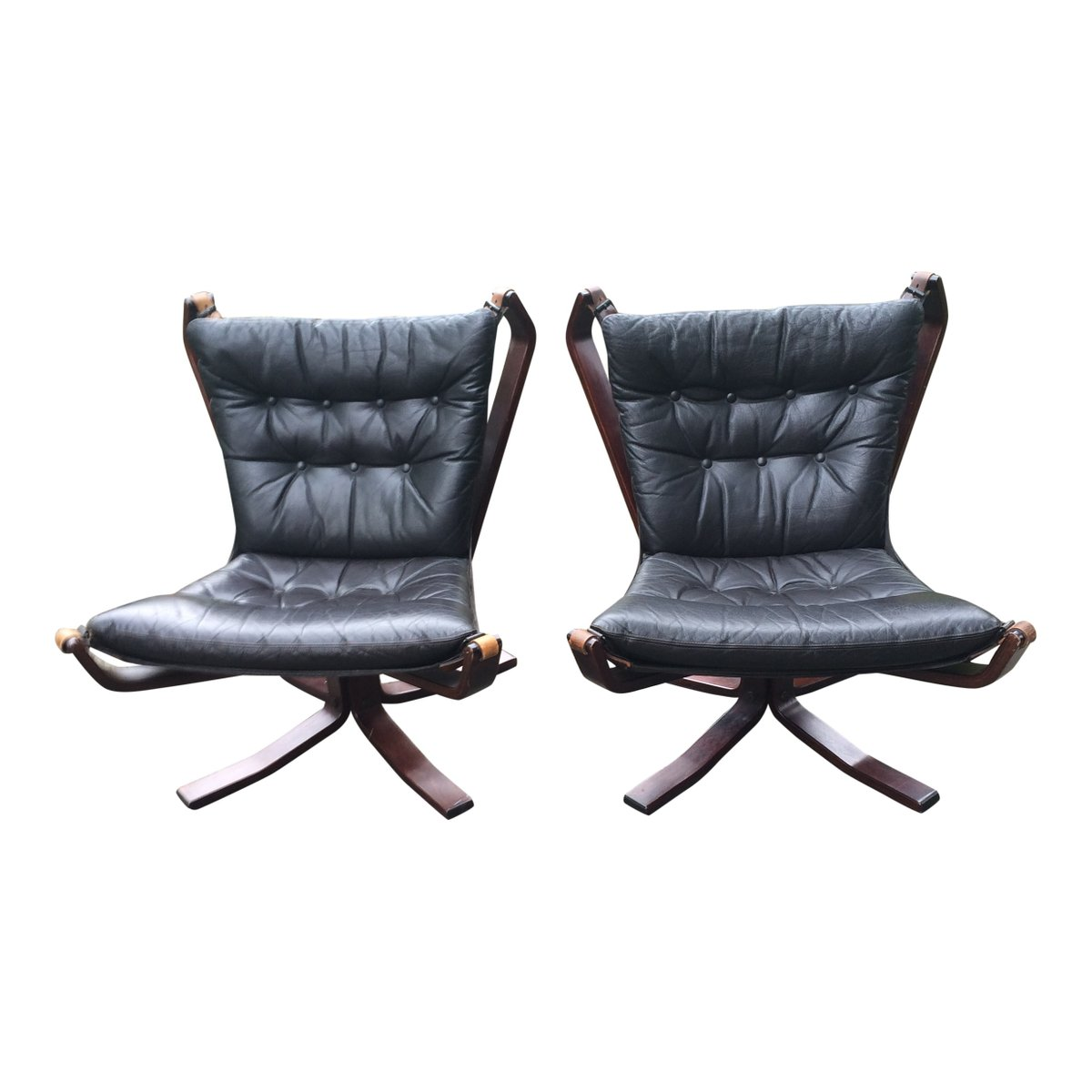 Black Chairs For Sale Black Leather Falcon Chair By Sigurd Ressell Set Of 2 For