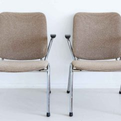 Retro Chrome Chairs Wrought Iron Patio Chair Glides Vintage Easy Set Of 2 For Sale At Pamono