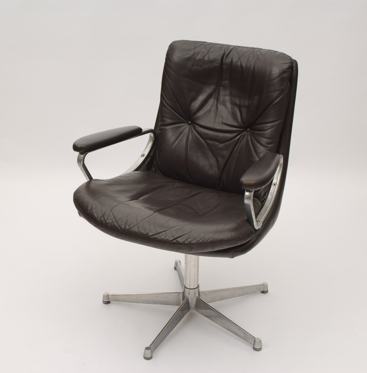 ergonomic chair norway peg perego tatamia high vintage norwegian leather office by ring model