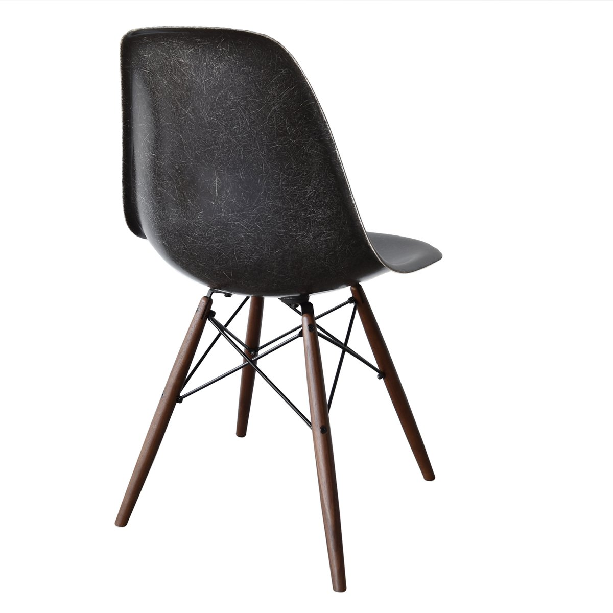 black eames chair beach chairs uk dsw by charles and ray for herman miller