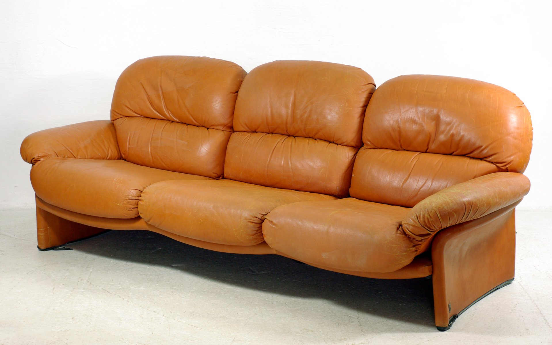 tuscany 3 seater leather sofa stani set italian vintage from busnelli for