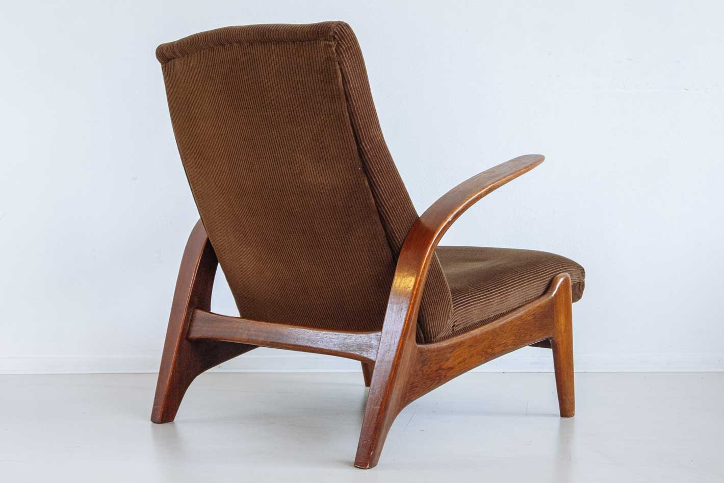 Vintage Lounge Chair and Footstool by Gimson  Slater for