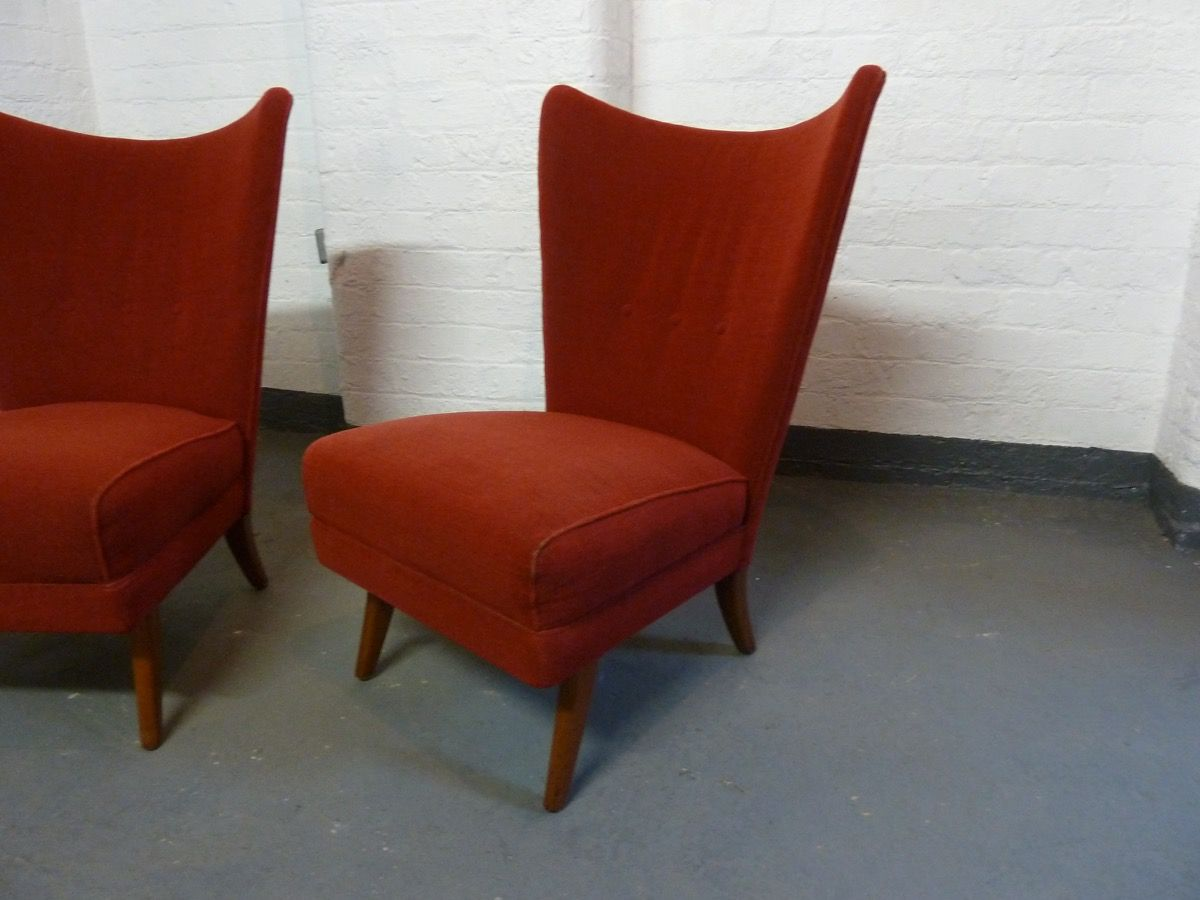 howard chairs for sale stretch slipcovers wingback red bambino lounge by keith set of 2