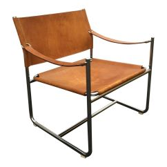 Leather Safari Chair American Flag By Karin Mobring For Ikea Sale At