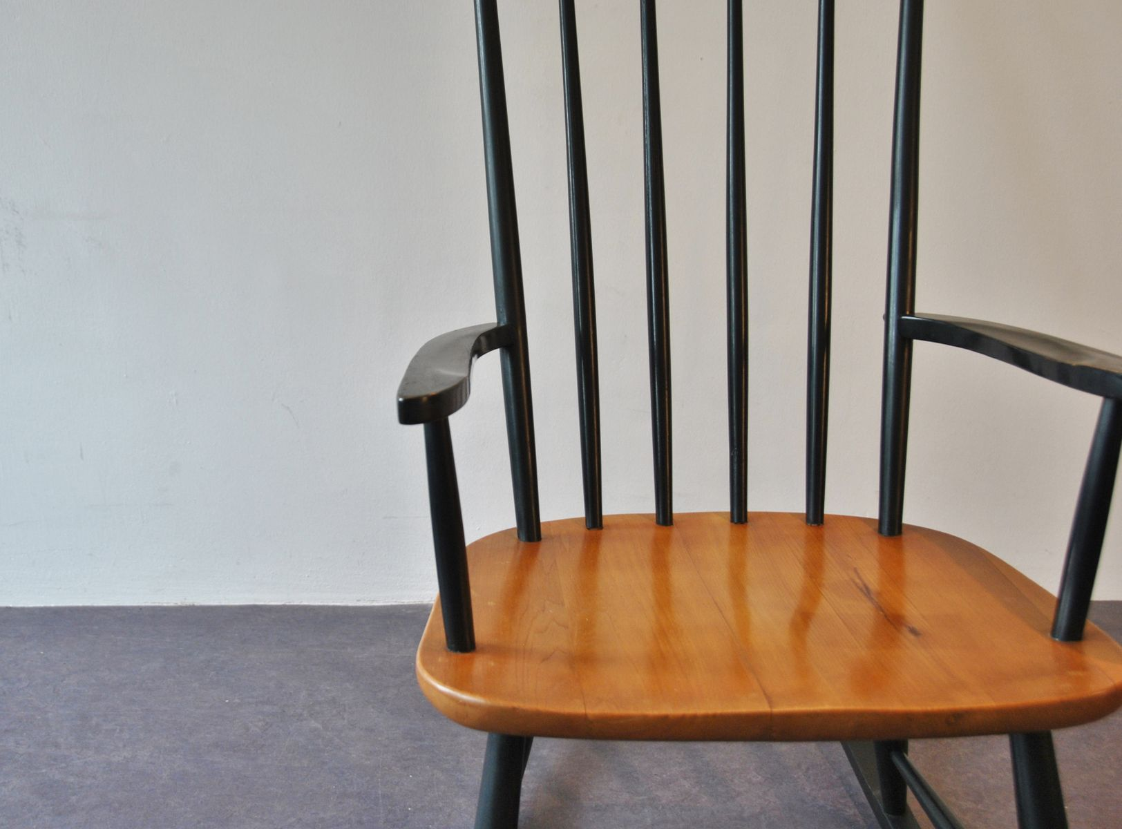 mid century rocker chair folding chairs for boats wooden rocking sale at pamono