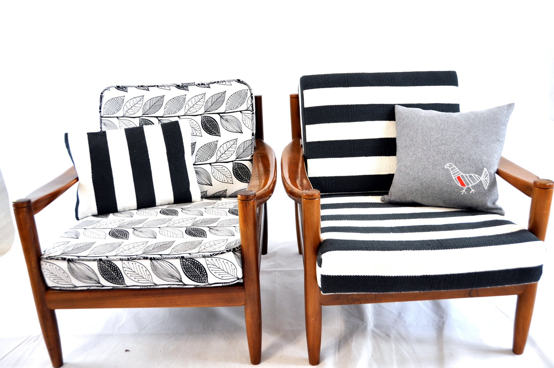 black white striped chair pottery barn oversized anywhere and vintage lounge for sale at