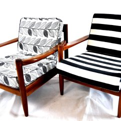 Black White Striped Chair Outdoor Papasan Frame And Vintage Lounge For Sale At