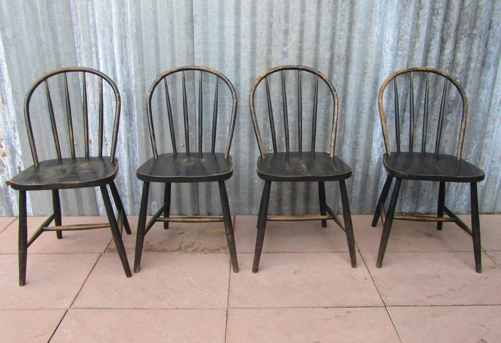 antique dining chairs value roman folding chair vintage wooden bowback chairs, set of 4 for sale at pamono