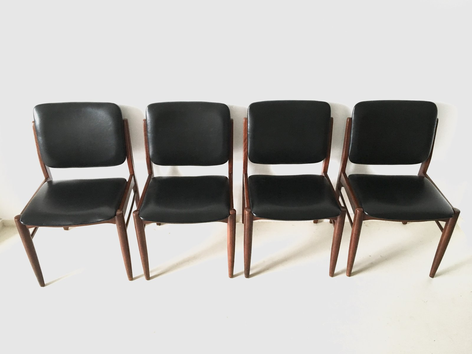 set of 4 dining chairs swivel chair toronto vintage danish 1960s for sale at