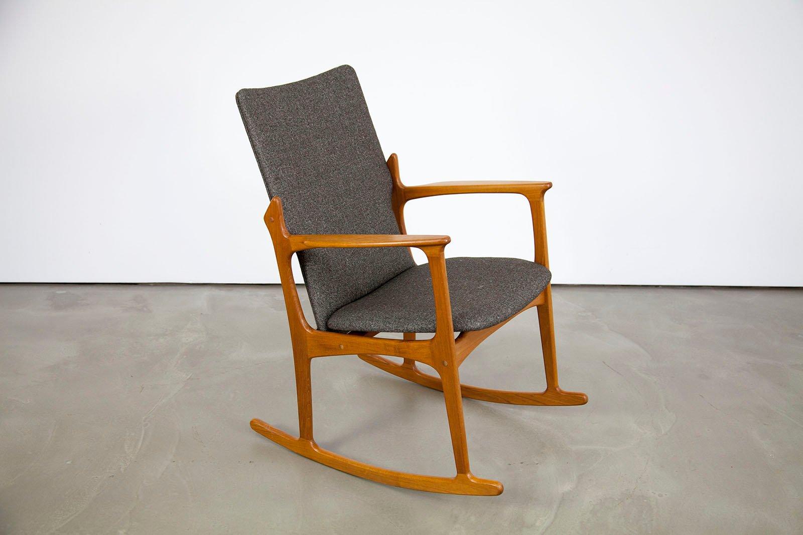 danish modern rocking chair target high teak from vamdrup for sale at