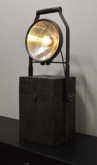 Vintage Industrial Portable Accumulator Lamp for sale at ...