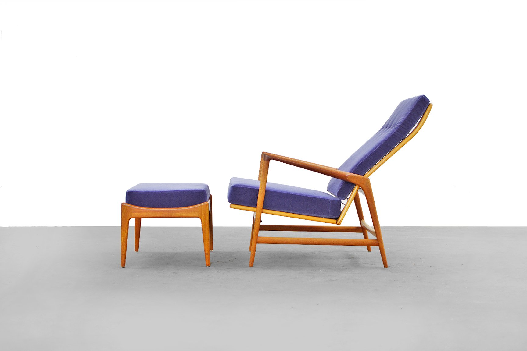 modern lounge chairs uk floor rocking chair target danish and ottoman by ib kofod larsen