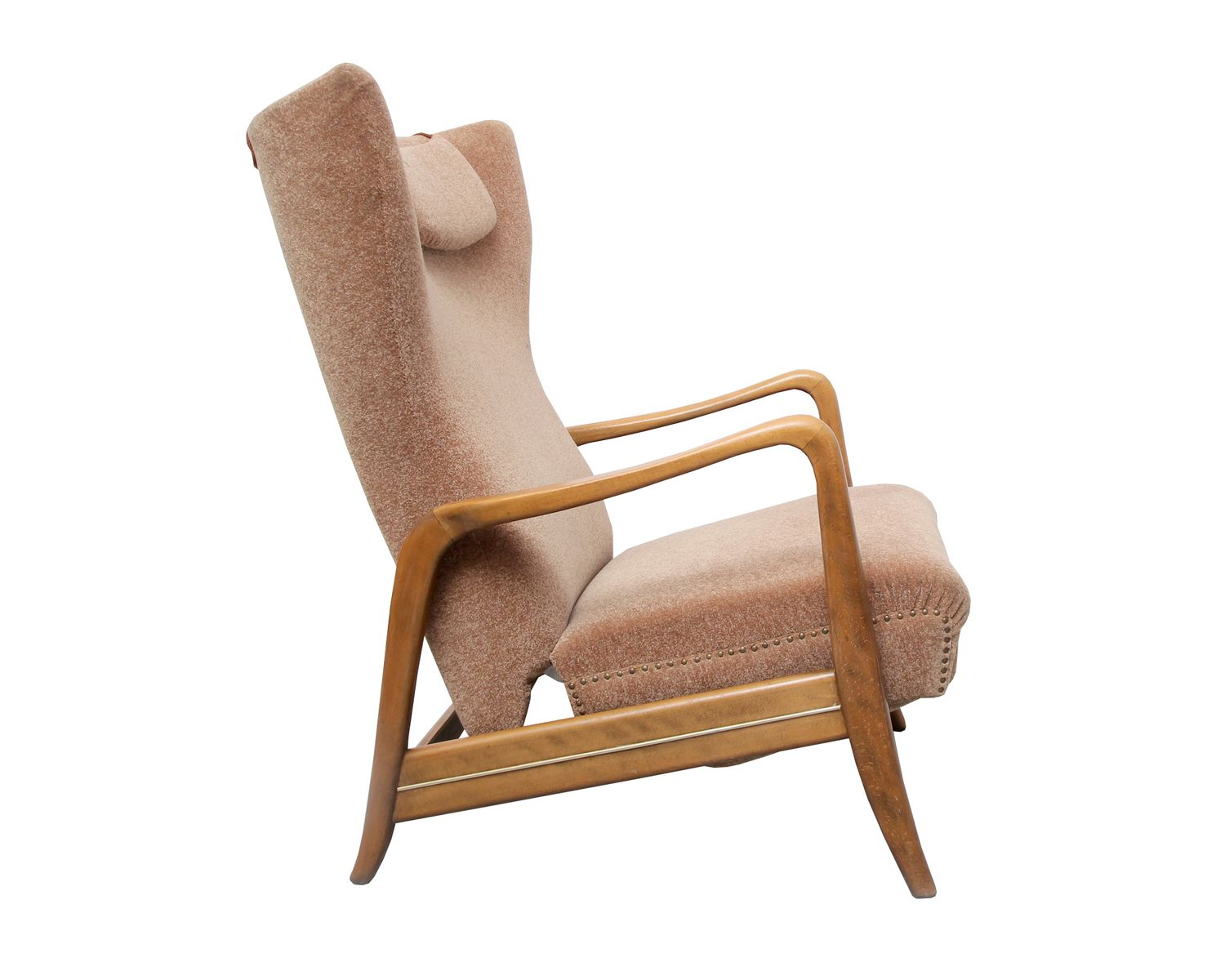 reclining wingback chair wood folding chairs 1950s for sale at pamono