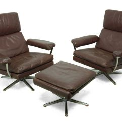 Swivel Chairs For Sale Old Fashioned Kitchen Chair Step Stool Leather With 1960s Set Of 3