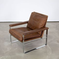 Leather Armchair Metal Frame Chair Design Templates Danish With Steel For Sale At Pamono