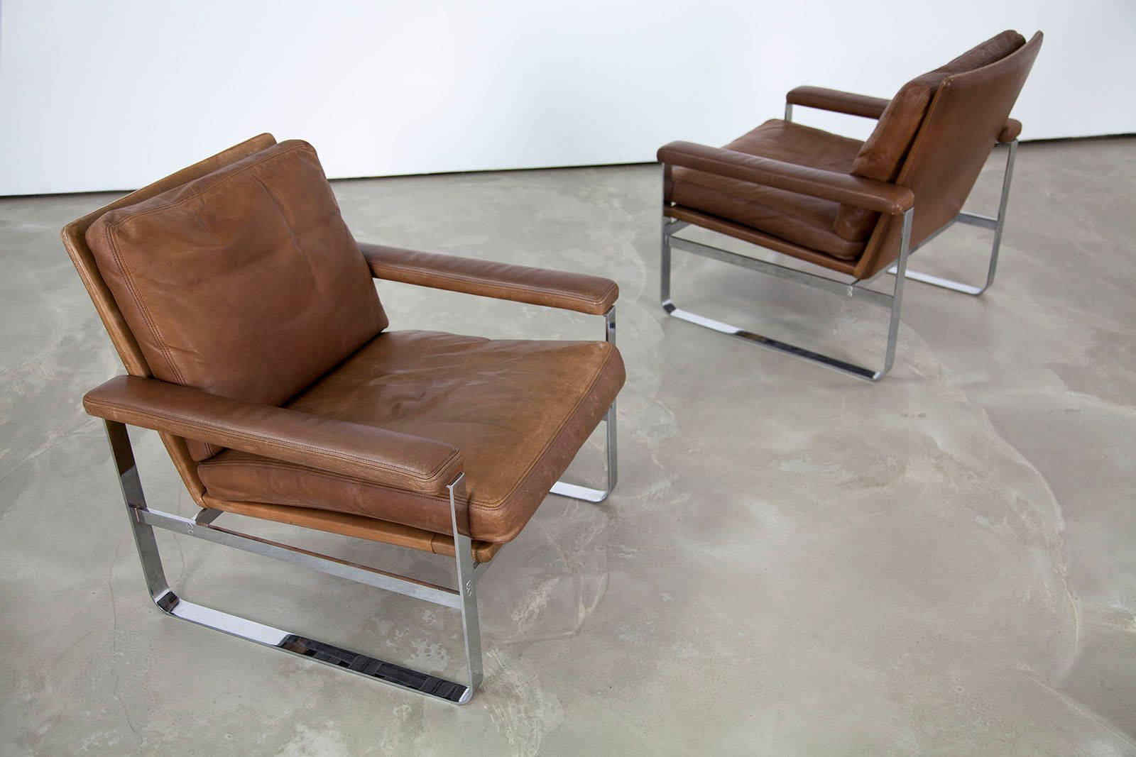 leather armchair metal frame perfect chair accessories danish with steel for sale at pamono